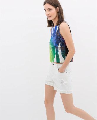Zara Printed Transparent T-Shirt