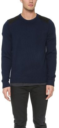 Rag & Bone Zeeland Shoulder Patch Sweater