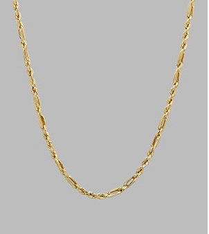 "Fine Jewelry 14K Yellow Gold Milano Rope Chain 18"""