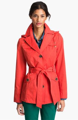 Ellen Tracy Short Trench Coat (Nordstrom Exclusive)