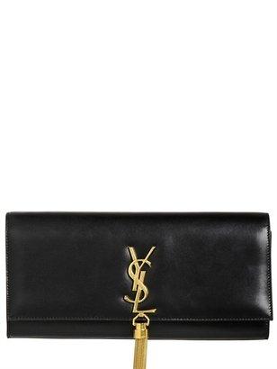 Saint Laurent Cassandre Tassel Leather Clutch