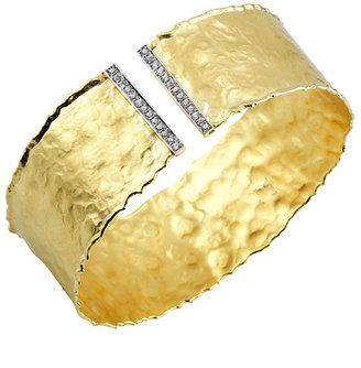 Reiss I.Reiss Split Diamond Bar Gold Cuff