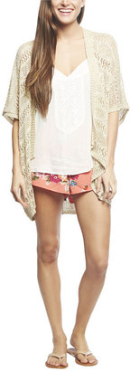 Wet Seal Short Sleeve Marled Open Cardi