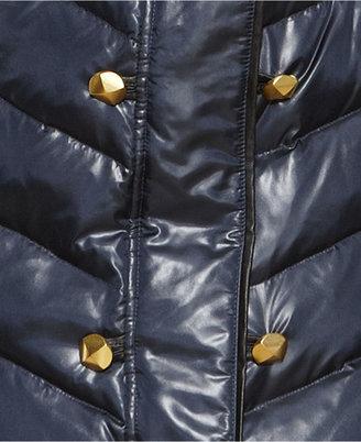 Rachel Roy Funnel-Neck Studded Puffer Coat