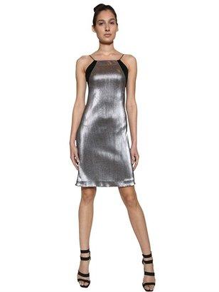 Interlocking Metallic Techno Dress