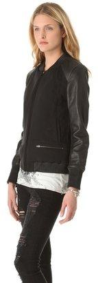 Leon Francis Runamuck Leather & Neoprene Jacket
