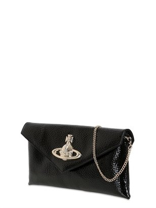 Vivienne Westwood Apollo Grained Patent Leather Clutch