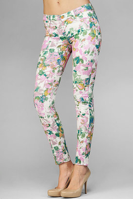 7 For All Mankind The Skinny Second Skin Legging in Kauai Floral