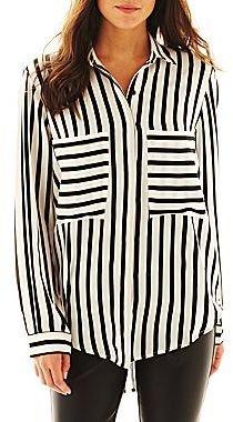 Allen B. Long-Sleeve Striped Blouse
