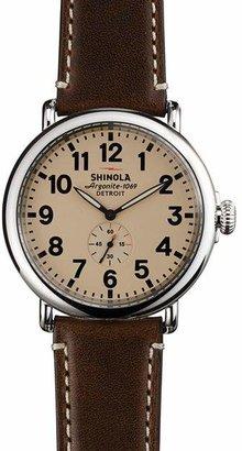 Shinola The Runwell Dark Coffee & Cream Dial Watch, 47mm
