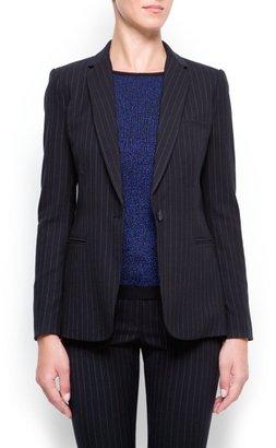MANGO Pin-striped blazer