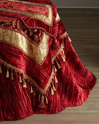 "NM Exclusive Velvet Tablecloth, 108""Dia."