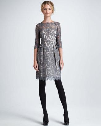 Milly Stella Lace Dress, Gray