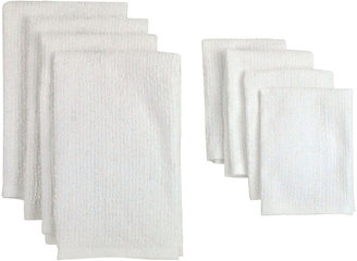 JCPenney Set of 8 Bar Terry Cloth Kitchen Towels
