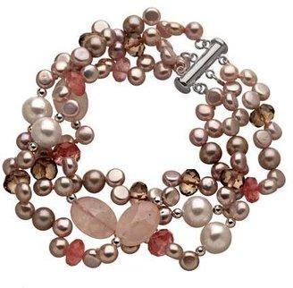 M Pearl Pink Pearl Cluster Bracelet