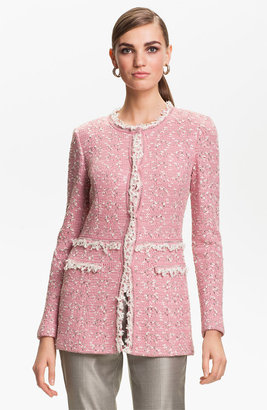 St. John Positano Tweed Knit Coat