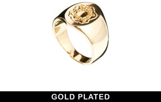 Asos Gold Plated Pinky Ring - Gold