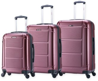 InUSA Pilot 3-Piece Hardside Upright Spinner Luggage Set