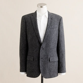J.Crew Ludlow suit jacket with double vent in bird's-eye English wool tweed