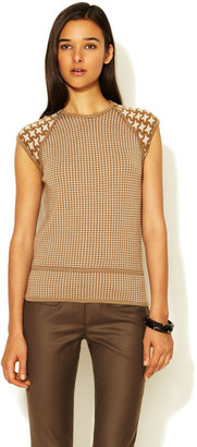 Pringle Houndstooth Wool Sweater