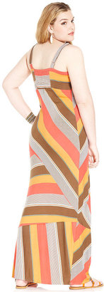 American Rag Plus Size Dress, Sleeveless Striped Maxi