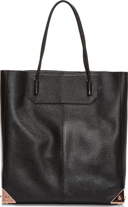 Alexander Wang Black Leather & Rosegold Prisma Tote