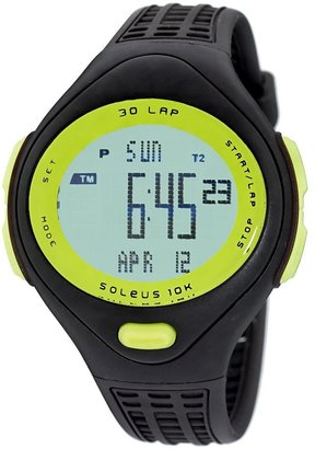 Soleus Women's SR007062P 10K Black and Green 30 Lap Digital Sports Watch