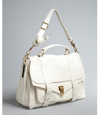 Proenza Schouler white leather 'PS1' large satchel