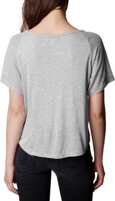 True Religion Mesh Short Sleeve Raglan Crop Top