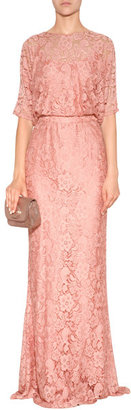 Moschino Cheap & Chic Lace Draped Top Evening Gown