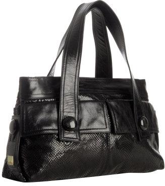 Kooba black leather 'Julia' shoulder bag
