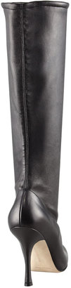 Manolo Blahnik Pascalare Tall Stretch Leather Boot