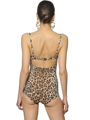 Dolce & Gabbana Leopard Lycra One Piece Swimsuit