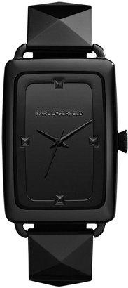 Karl Lagerfeld Women's Black Ion-Plated Stainless Steel Bracelet Watch 41x28mm KL1801