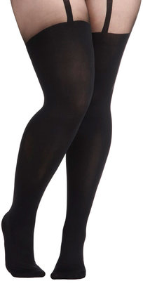 Pretty Polly Suspends Thriller Tights in Plus Size