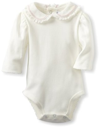 Hartstrings Baby-Girls Newborn Long Sleeve Peter Pan Collar Body Suit