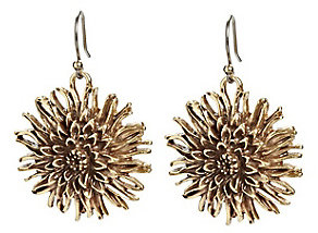 Lucky Brand Gold Floral Drop Earrings