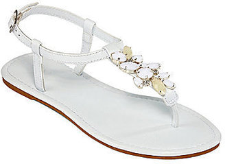 JCPenney Mixit Stone Cluster T-Strap Sandals