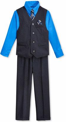 Nautica Little Boys' Stripe Vest, Shirt, Tie & Suiting Pants $59.50 thestylecure.com