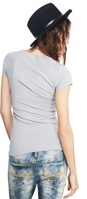 Wet Seal Solid V-Neck Tee