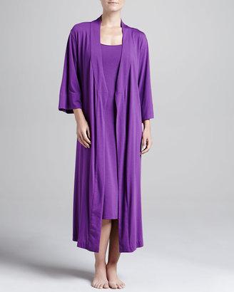 Natori Shangri-La Jersey Robe, Royal Fuchsia