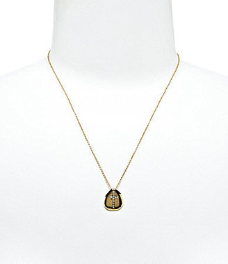Nadri Cross Disc Pendant Necklace