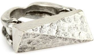 Low Luv by Erin Wasson Hammered Top Bone Silver Shank Ring