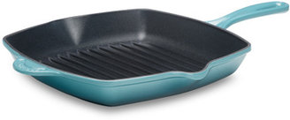 Le Creuset 10.25-Inch Square Skillet in Caribbean Blue