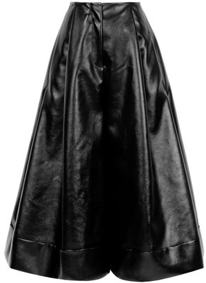 J.W.Anderson Preorder Black Pleather Crop Trousers