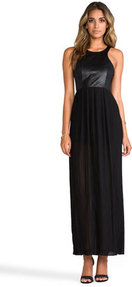 Blaque Label Leather Detail Tank Maxi Dress