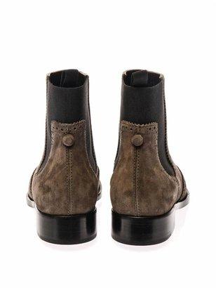 Balenciaga Brogues suede chelsea boots