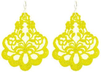 Tita' Bijoux Oleandro yellow lace earrings