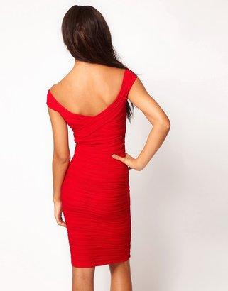 Asos Midi Dress with Off Shoulder