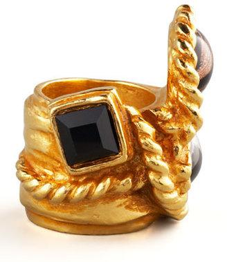 Saint Laurent Three-Stone Arty Ring